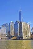 Weltfinanzzentrum von Batterie-Park- Citylower manhattan Stockfoto