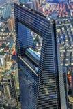 Weltfinanzzentrum-Wolkenkratzer Liujiashui Shanghai China Stockfoto