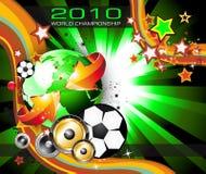 Weltfußball-Meisterschaft-Hintergrund lizenzfreie abbildung
