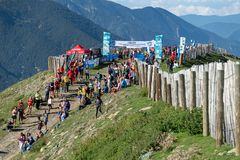 Weltgebirgslaufendes Meisterschafts-Rennende stockfotografie