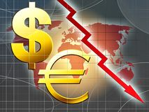 Weltgeld-Krisenabbildung Lizenzfreie Stockfotografie