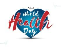 Weltgesundheits-Tag am 7. April, globaler Gesundheitsbewusstseinstag lizenzfreie abbildung
