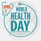 Weltgesundheits-Tageskonzeptplakat Auch im corel abgehobenen Betrag stock abbildung