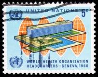 Weltgesundheitsorganisation, Hauptsitze, Genf, Einweihung serie, circa 1966 lizenzfreie stockfotos