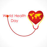 Weltgesundheitstagesdesign Lizenzfreies Stockfoto