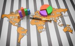 Weltglobales wirtschaftliches Stockfotografie
