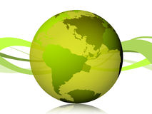 Weltgrün in 3D Stockbilder