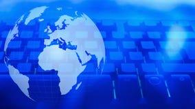 Weltgroße Datenanalytik lizenzfreie abbildung