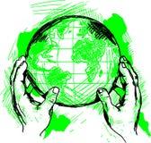 Welthände Lizenzfreie Stockfotos