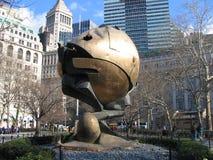 Welthandels-Mitte-Kugel an der Batterie Park City in New York lizenzfreie stockfotografie
