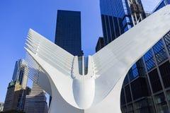 Welthandels-Mitte-Transport-Nabe, New York City, USA Lizenzfreies Stockfoto