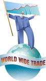Welthandels-Wanderer Stockfotografie