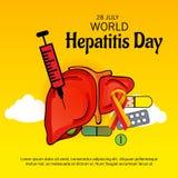 Welthepatitis-Tag Lizenzfreie Stockbilder
