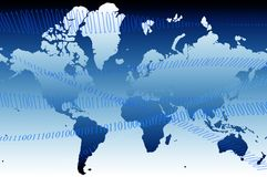 Weltkarte 01 Lizenzfreies Stockbild