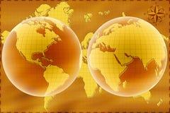 Weltkarte Lizenzfreie Stockfotografie