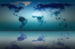 Weltkarte Lizenzfreie Stockfotos