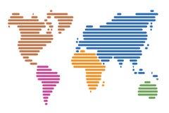 Weltkarte Lizenzfreies Stockfoto
