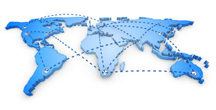 Weltkarte 3d