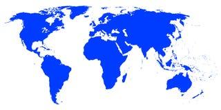 Weltkarte. Lizenzfreies Stockfoto