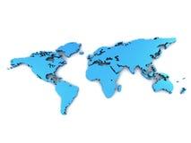 Weltkarte auf einer Oberfläche Lizenzfreie Stockfotos