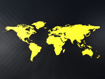 Weltkarte auf einer Oberfläche Stockfoto