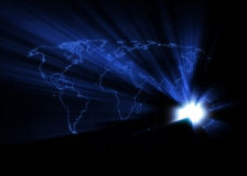 Weltkarte - Australien Lizenzfreie Stockfotos