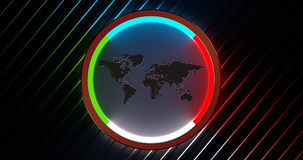 Weltkarte beleuchtet Stockfotografie