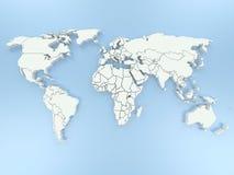 Weltkarte 3D Lizenzfreies Stockfoto