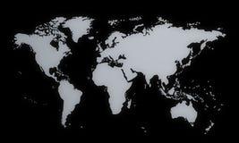 Weltkarte, 3d Lizenzfreie Stockfotografie