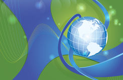 Weltkarte dynamisch Stockbild