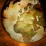 Weltkarte - Europa-Karte Lizenzfreies Stockbild