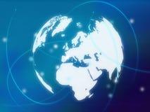 Weltkarte - Europa-Karte vektor abbildung
