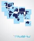 Weltkarte, Geschäftshintergrund Stockbilder