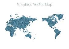 Weltkarte-Ikone und Informations-Grafiken Stockbild