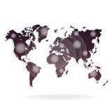 Weltkarte-Illustration auf einem weißen Hintergrund Stockfoto