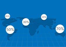 Weltkarte infographic Stockbild