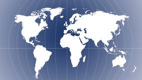 Weltkarte - Karte der Welt Lizenzfreie Stockfotos