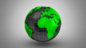 Weltkarte macht zu eine Kugel stock footage