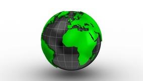 Weltkarte macht zu eine Kugel stock video footage