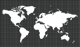 Weltkarte mit Ausschnitts-Pfad vektor abbildung