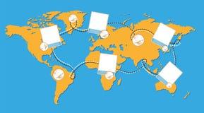 Weltkarte mit Fotos Lizenzfreie Stockbilder