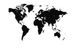 Weltkarte oder Karte der Welt stock abbildung