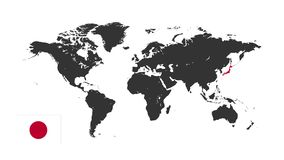 Weltkarte-Schattenbild lizenzfreie abbildung