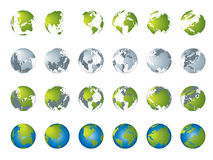 Weltkarte, Serie der Kugel 3D Lizenzfreie Stockfotos