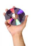 Weltkarte und DVD Stockfotos
