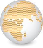 Weltkarte- und Kugeldetail Lizenzfreie Stockfotos