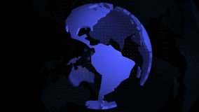Weltkarteblaufarbe stock video