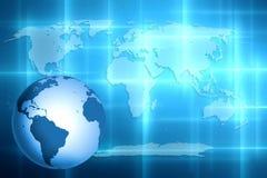 Weltkartehintergrund Stockbild