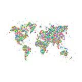 Weltkarteikone Stockbild