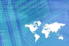 Weltkarten-Digital-Wirtschaftlichkeit-Hintergrund vektor abbildung